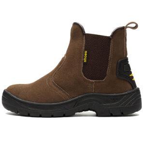 Mediados de tobillo Puntera Anti Smash Zapatos de seguridad para los trabajadores