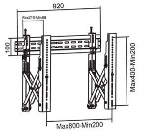 Видео нажмите для настенного монтажа VESA точная настройка Max. 800*400