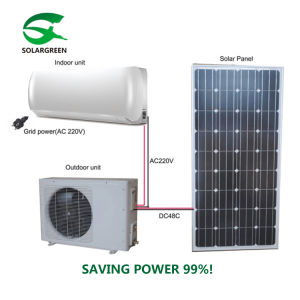 격자 태양 전지판 에어 컨디셔너에 저축 힘 90% Acdc