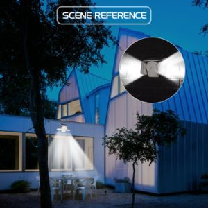 新しいデザインは絞る太陽LEDの二重ヘッド極度の明るい屋外の壁ライトを避ける