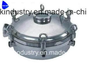 Het Glas Dn100 van het Gezicht van de Flens van het Roestvrij staal van de Dekking van Manway van de Tank van de Rang van het voedsel