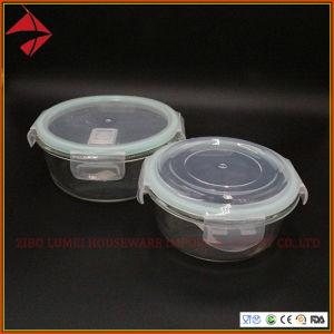 Venda por grosso de vidro Tampas simples caixas de armazenamento do recipiente de alimentos com Kr