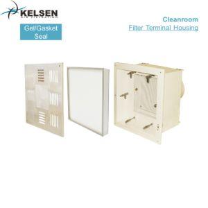 Revestimiento de polvo de salida de aire HVAC de acero con filtro HEPA H14