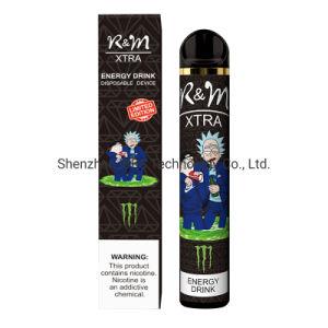 6 % de sal de nicotina puff de suco de vaporizador descartáveis 1600borlas para RM Xtra