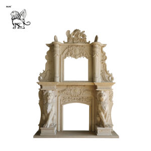Львов оформление Роскошные каменные Mantel камин Mfm-02