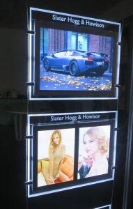 Affichage de la fenêtre Boîte à lumière LED Ultra Slim avec face magnétique