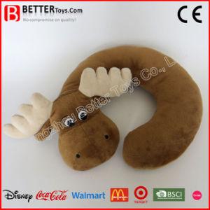 Corsa morbida a forma di U Neckpillow del giocattolo dei cervi dell'animale farcito