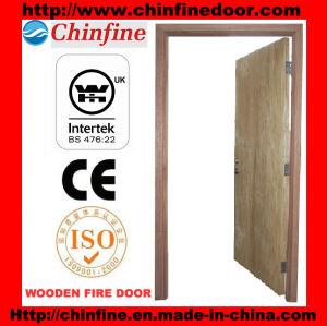 Porte coupe-feu de bois de placage (CF-F022)