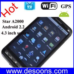* O Android 2.2 Smart Phone duplo SIM 4,3 polegadas tela de toque capacitivo (A2000)