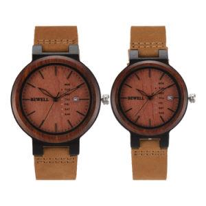 Годовщины OEM на заказ подарка индивидуальные выгравированными деревянные мужчин Часы наручные часы