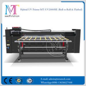 Rullo UV della stampante di getto di inchiostro della stampante di ampio formato di Mt da rotolare e stampante a base piatta da vendere