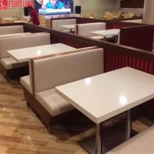Superficie sólida de acrílico Restaurante mesa de comedor con asientos Stand presidente