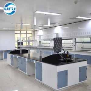 化学実験室の床-取付けられた構造の完全な鋼鉄実験室の島の仕事台