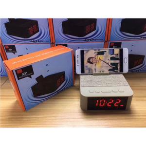 目覚し時計の電話ホールダーが付いているBluetoothのスピーカーサポートUSB TFのカード