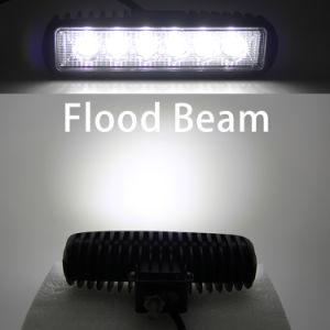 De automobiele Super Heldere LEIDENE Lichte, 3D Draagbare 12V Super Heldere Waterdichte 18W LEIDENE van het Werk Lichte Staaf van het Werk