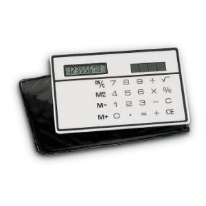 De zonne Slanke Calculator van de Kaart met Aangepast Embleem