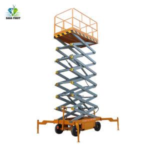 10m de la antena de hidráulica móvil de trabajo plataforma de elevación de la tijera