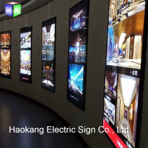 Slim rétroéclairé par LED boîte à lumière pour les bijoux de la publicité Picture Frame panneau affichage