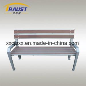 新製品2017木プラスチック庭のベンチ、鋳鉄が付いている旧式な椅子