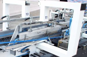 値を付けさせる機械を自動段ボール(GK-800GS)