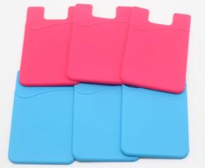 Scheda astuta del telefono delle cellule del silicone appiccicoso della parte posteriore dell'adesivo dell'universale 3m di stampa di marchio, carta di credito, scheda di identificazione, sacchetto della scheda di nome, supporti