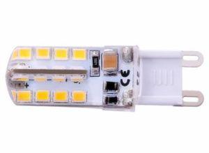 Heet verkoop Nieuwe AC 110-130V van het Ontwerp 2.8W LEIDENE van het Silicone 220-240V SMD2835 G9 Bol, Warme Witte, Witte, Koele Witte LEIDENE G9 Bol