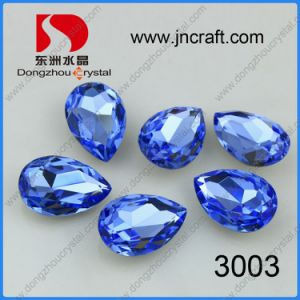 Pujiang Pointed Back Violet Pear Drop Fancy Stone Mixed Colours and Sizes