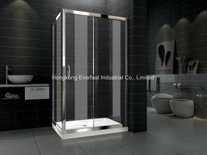Fácil de limpiar la puerta deslizante de 6mm el receptáculo de ducha cuarto de baño