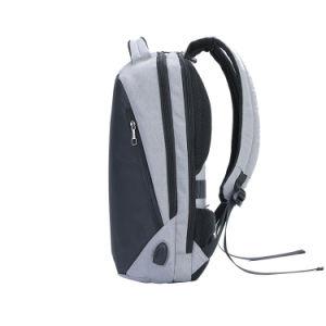 Reflectante resistente al agua antirrobo de seguridad USB de viaje Mochila para portátil 15.6