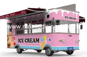 2018 La crème glacée bus Camion alimentaire Mobile électrique pour remorque