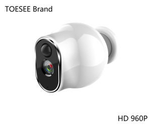 960p IP van de Batterij HD Camera van de Veiligheid van het Toezicht van kabeltelevisie van de Opsporing van de Motie van WiFi van de Camera de Openlucht Waterdichte