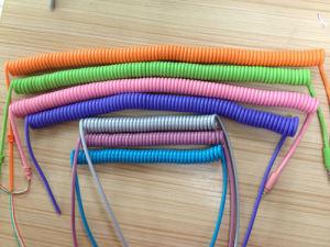 Сделано в Китае красочные кабель от внешнего источника Спиральный кабель