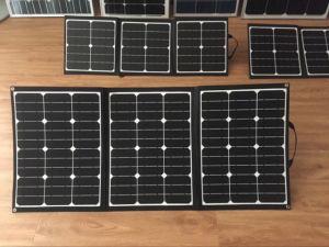 Sunpower 150 Vatios Panel solar plegable una manta para el sistema de alimentación de 12V DC