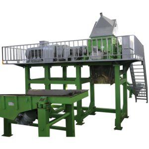 타이어 재생 공장에 있는 전기 강판 기계