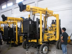 Montagem do reboque de Engenharia Geotécnica, Máquina de perfuração de poços de água (300m-600m)