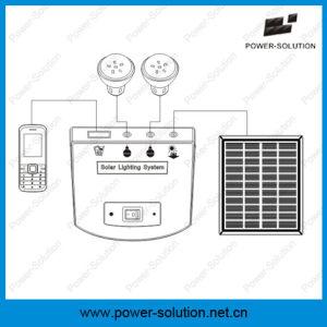 Солнечные домашние системы освещения с 2 фары для использования внутри помещений