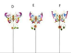 De Staak van de Tuin van het Kunstwerk van de Vorm van de Vlinder van het Ijzer van het metaal voor de Decoratie van de Tuin