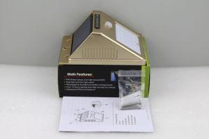 8 LED Sensor solar pequeño triángulo de la pared de la calle de la luz exterior