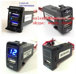 Nuevo cargador USB con voltímetros de Toyota Vigo