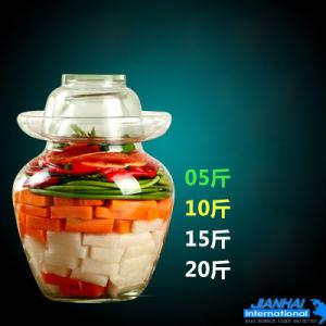 حافات يخلّل أسلوب مرطبان, [2.5كغ-10كغ] زجاج مخامل زجاجة