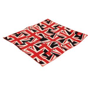 Mode Modèles de tissu de coton unisexe drapeau petit mouchoir
