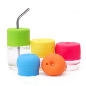 Sy03-03-010 Venta al por mayor de silicona FDA Tapón de botella de agua para el estudiante