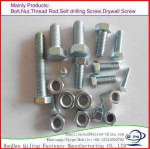 DIN934ナットが付いている炭素鋼J/L/Iの基礎アンカー・ボルトまたはアンカー・ボルトかHexのボルトDIN933/HexagonフランジのボルトまたはT型ボルト/持ち上がるアイボルトまたはU字型ボルトまたはステップボルト、Zp/HDG