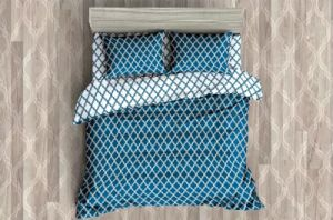 Ägyptischer Luxus 1800 Serien-Hotel-Ansammlung Quatrefoil Muster-Bett-Blatt-Set