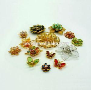 、クラフトの付属品作る、宝石類靴の衣服のアクセサリのための真鍮の銅のアクリルの花のChenlinのサンプルカード