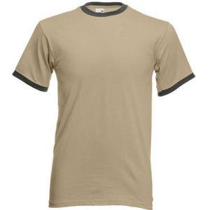 Hombre de cuello redondo Color sólido camisetas de algodón