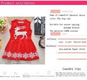 Los niños ropa Sweater vestido de princesa falda tejida de niños Ropa de niños