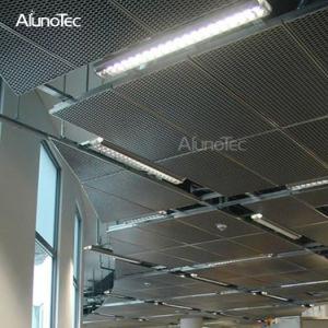 Mayorista de fábrica de revestimiento en polvo prefabricados Panel del techo metálico perforado