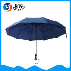 Personalizados promocionales Auto abrir y cerrar 10 Panel 3 automático de plegado paraguas regalos para empresas de publicidad