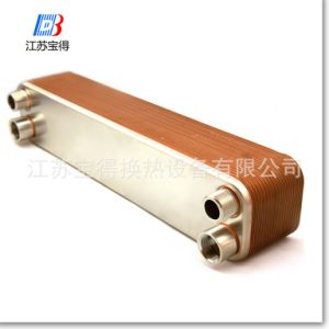 R22 열 펌프를 위한 CB76에 의하여 놋쇠로 만들어지는 격판덮개 열교환기